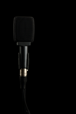 Instrument Microphone on Black Background