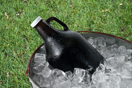 Beer Growler in Ice Bucket