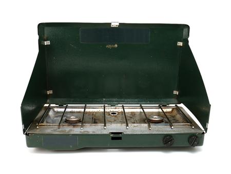 Estufa de camping desgastado Foto de archivo