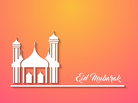 Mosque creative vector abstract for Eid Mubarak with nice and beautiful design illustration.