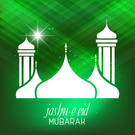 Isolated vector abstract for Jashn e Eid Mubarak with nice and beautiful design illustration.