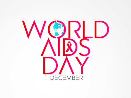 aids awareness ribbon: nice and beautiful abstract for World AIDS Day with nice and creative design illustration, 1st of December.