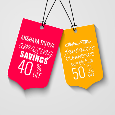 nice and beautiful sales tag illustration for Akshaya Tritiya.