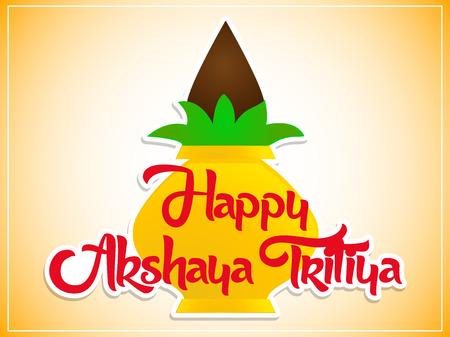 nice and beautiful abstract design for Akshaya Tritiya with nice and creative kalash illustration in a background. Illustration