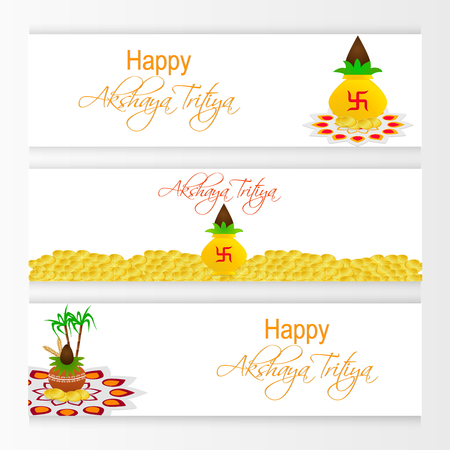 nice and beautiful web header and banner for Happy Akshaya Tritiya.