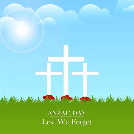 Nice and beautiful abstract for Anzac Day with nice and creative design illustration.