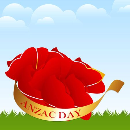 Nice and beautiful design for Anzac Day vector illustration