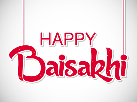 nice and beautiful abstract or poster for Happy Baisakhi with nice and creative design illustration in a background.