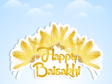 Nice and beautiful abstract or poster for Happy Baisakhi or Vaisakhi with nice and creative design illustration in a background.