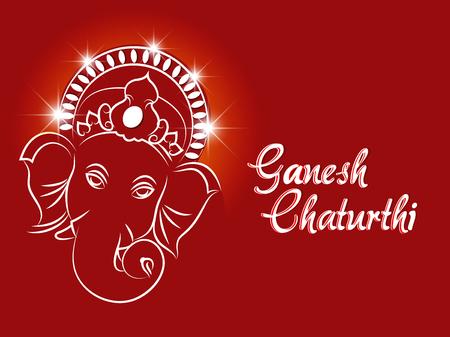 nice and beautiful abstract or poster for Ganesh Chaturthi with nice and creative design illustration.