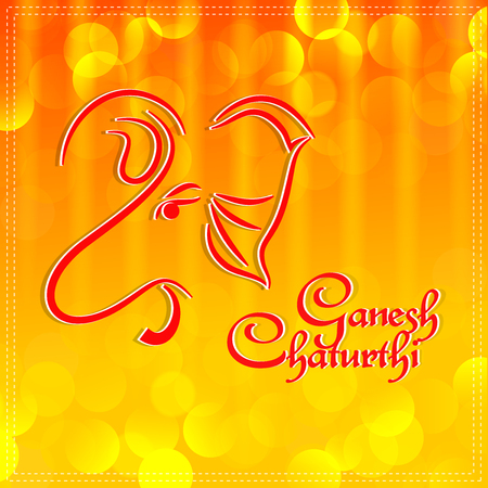 nice and beautiful abstract or poster for Ganesh Chaturthi with nice and creative design illustration. Banco de Imagens - 122496598