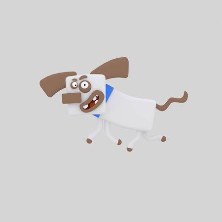 Cute dog 3d illustration. Stok Fotoğraf