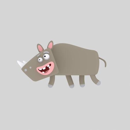 Rhino. 3d illustration. Stock fotó