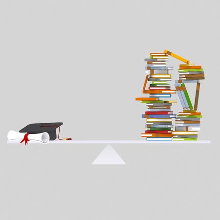 Graduate balance. 3d illustration