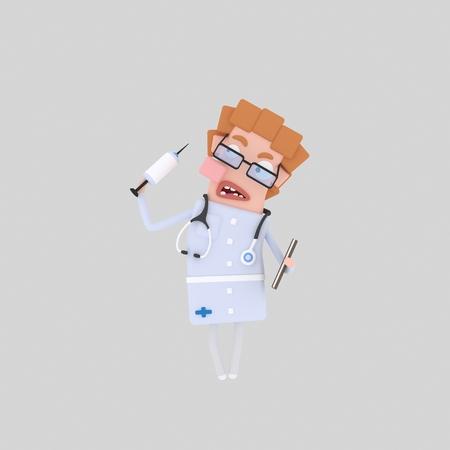 Doctor. Medical 3d illustration