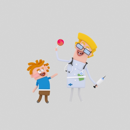 Kindly doctor. medical 3d illustration Stock Photo