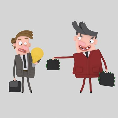 Businessman With A Tempting Offer .. 3d illustration Stock fotó