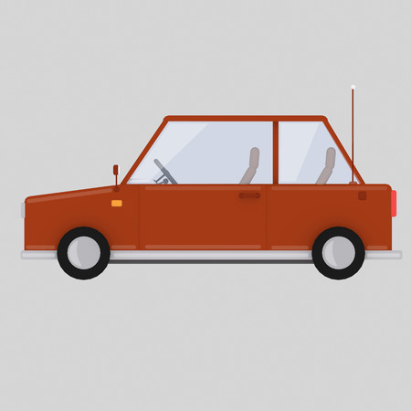 Red car. 3d ilustration Stock Photo