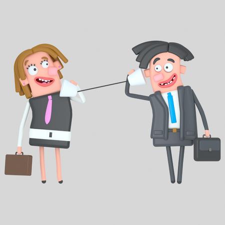 Customer feedback 3d illustration.