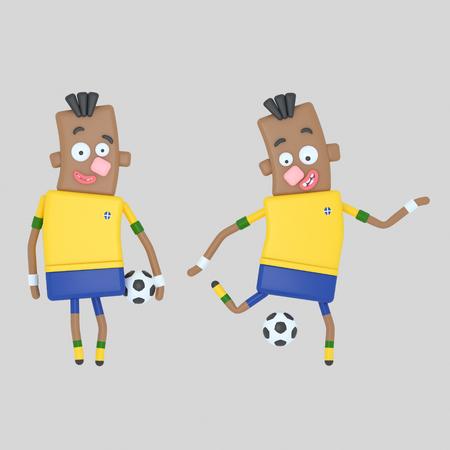 Brazil soccer player Stock Photo