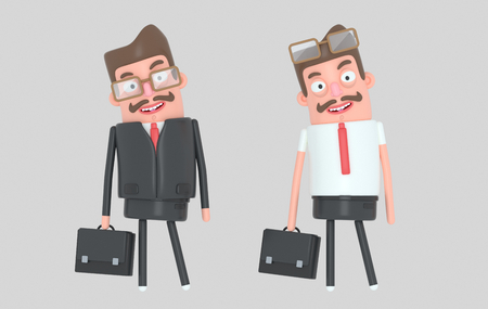 Modern handsome businessman. 3d illustration Stock Photo