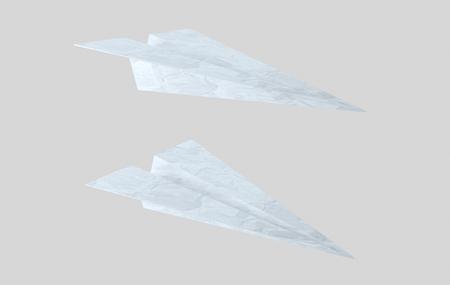Paper plane. Airplane words. . 3d illustration