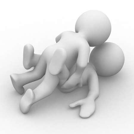3D figuur romantiek Stockfoto - 28226429