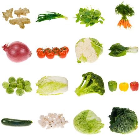 Plantaardige collectie Stockfoto