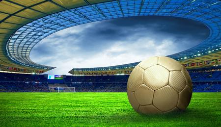 Bal op het stadion veld Olimpic