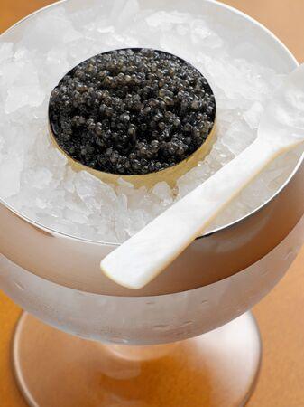 Kaviaar op ijs