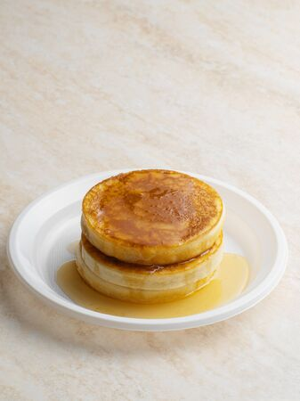 Pancakes and maple syrup