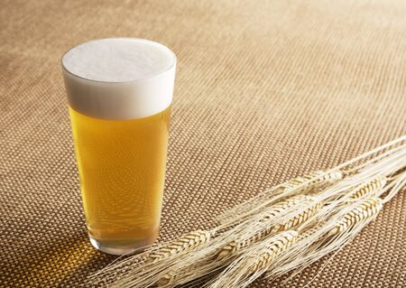 Bierglas en gerst