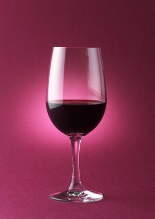 Rode wijn glas