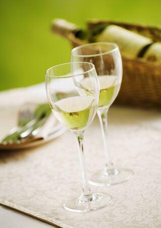 Paar glazen wijn Stockfoto