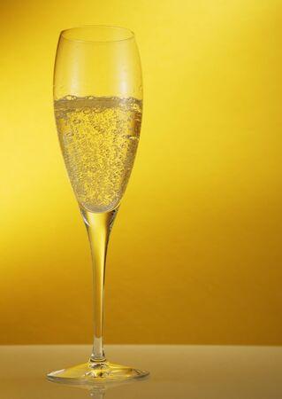 Champagne glas Stockfoto