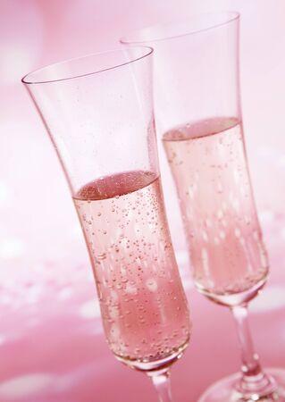 Een paar glazen champagne Stockfoto - 37093198