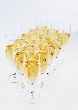 Champagne glazen Stockfoto