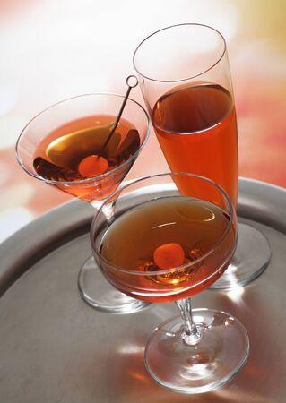 Cocktails met bourbon Stockfoto - 37035833