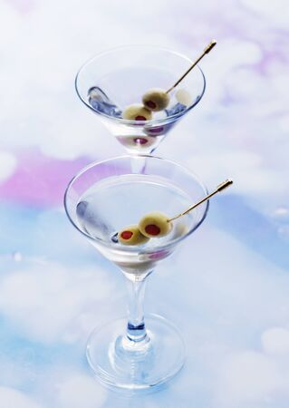 Cocktails and olives