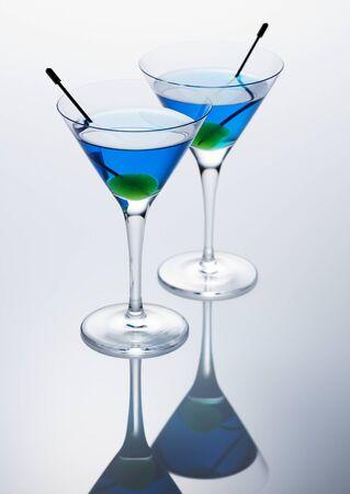 Blauwe martini Stockfoto