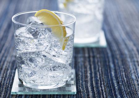 Glasses of lemon