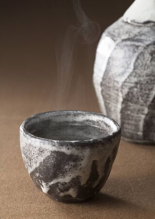 Hot water in clay pots