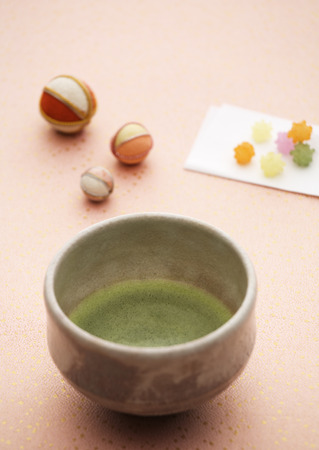 Kop van groene thee