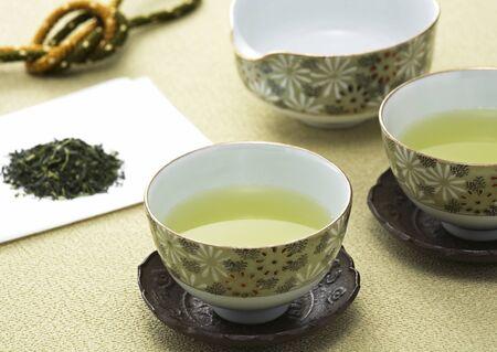 Groene thee kopjes