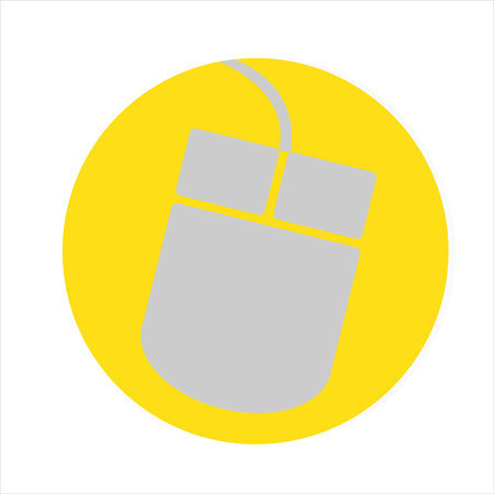 computer mouse icon: Computer mouse icon, Flat design style Illustration