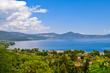 Overview of Lake Bracciano in Italy