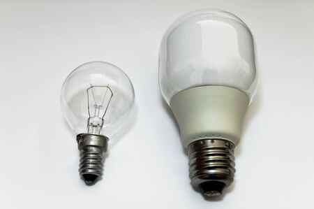 generational: The generational transition between the incandescent bulb and the neon lamp