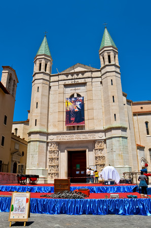 CASCIA  May 14 2011  The Basilica of Saint Rita of Cascia in Italy during the preparations for Concert Band of the Carabinieri Corps.