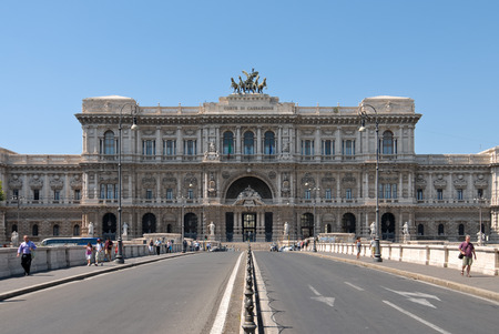 ROME  June 16 2012  Facade of the Italian Court of Cassation located in the center of the city of Rome.