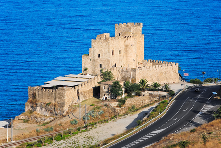 Beautiful view from the top of the Castle of Roseto Capo Spulico in Italy
